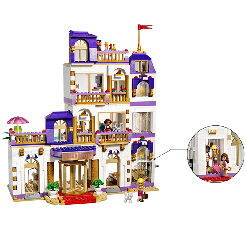 1676pcs Bela diy Compatible with playmobil Friends Heartlake Grand Hotel Building Blocks Bricks Toys for children birthday gifts lepin 01045 1676pcs girls series heartlake grand hotel set children eucational building blocks bricks toys model gift 41101
