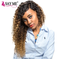 SAY ME Ombre Brazilian Deep Wave Closure 3 Three Tone 1b 4 27 Blonde Free Part