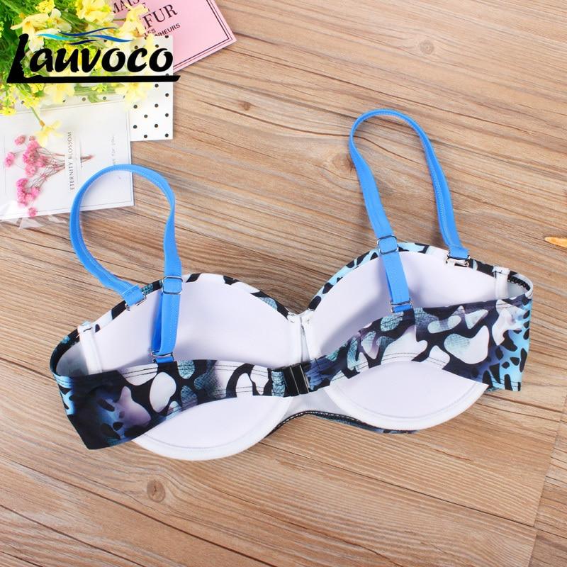 e8a267816d58d4 Blauw Badmode Plus Size Bikini Set Badpak Push Up Badmode Grote Maat  Beachwear Monokini Vrouwelijke Zwemmen Badpak Biquini in Blauw Badmode Plus  Size Bikini ...