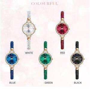 Image 5 - Kimio simples mulher pulseira relógio senhoras diamante cristal banda relógios de quartzo moda luxo à prova dwristwatch água relógio de pulso 2019 novo