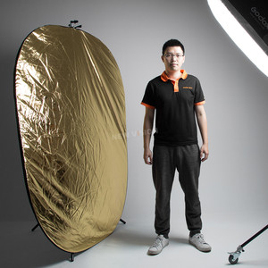 Image 5 - Godox 2in1 150x200cm Gold and Silver Oval Multi Disc Reflector Collapsible Photography Studio Photo Lighting Diffuser Reflector