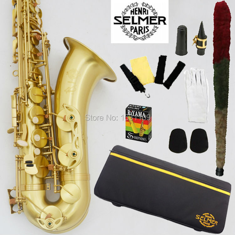Promotions Free shipping New France Selmer Tenor Saxophone R54 Professional Bb Sax mouthpiece With Case and Accessories