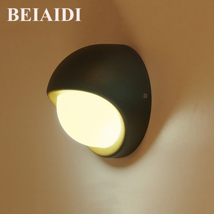 BEIAIDI Nordic Led Wall Lamps Waterpoof Corridor Porch Light 5W Aluminum Body Wall light for Balcony Courtyard Patio Fence Villa электрический духовой шкаф zanussi zob21301xa