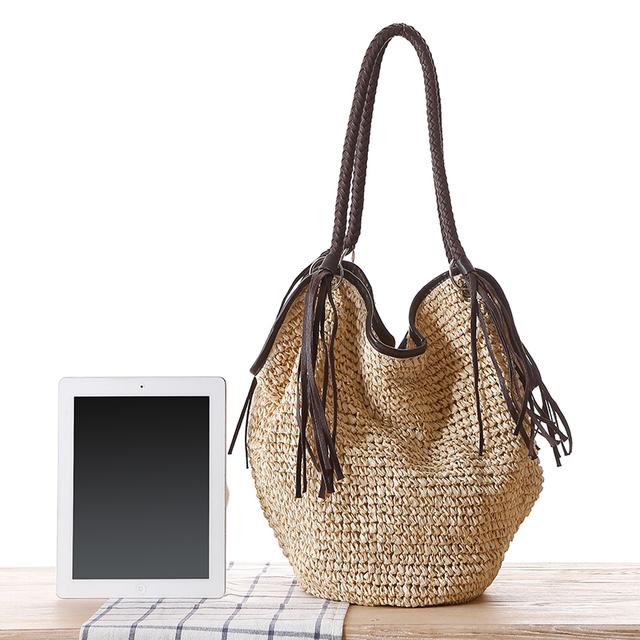 Big Straw Beach Bag