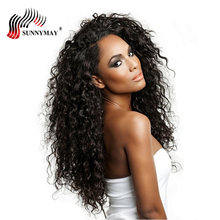 hot deal buy sunnymay natural curly lace front wigs brazilian virgin hair pre plucked lace front human hair wigs with baby hair in stock