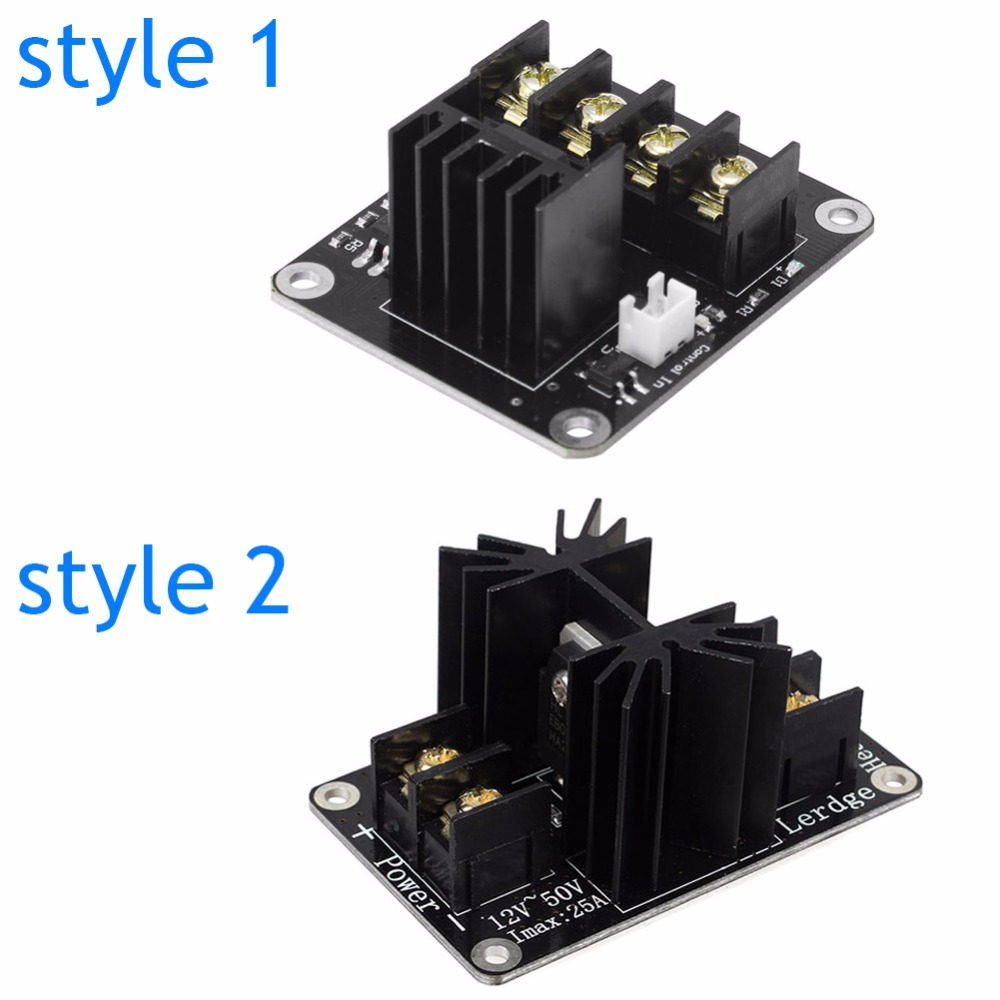 Integrated Circuits Active Components Tzt 3d Printer Parts General Add-on Heated Bed Power Expansion Module High Power Module Expansion Board For 3d Printer Attractive Fashion
