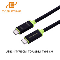 Cabletime USB 3 1 Type C Male To USB 3 1 Type C Male Cable 3