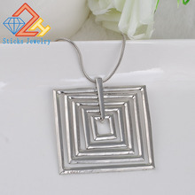 Necklace Pendant Wholesale Trendy Clavicle-Chain Square Geometric Hot-Selling Fashion