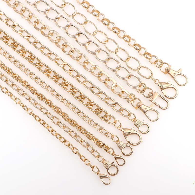 """120 ס""""מ DIY תכשיטי שרשרות רצועות תיק כתף שרשרת עם לובסטר אבזם חגורות ארוך חלקי אביזרי תיקי רצועת ידית"""