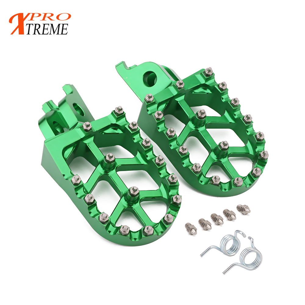 Motorcycle FootRest Footpegs Pedals For KAWASAKI KX250F KX450F KXF250 KXF450 2007- 2018 KLX450R 2008 2009 2010 2011 2012 2013 ahl high quality brand new motorcycle accessories throttle line cable wire for kawasaki kxf250 2011 2016 kxf450 2012 2015