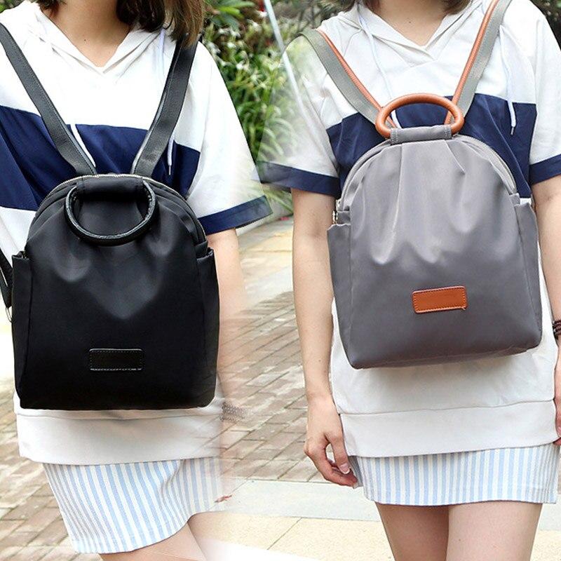 New Women Nylon Backpack Teenage Girls Waterproof Casual Backpacks Fashion Designer School Travel Bag 88 LBY2017
