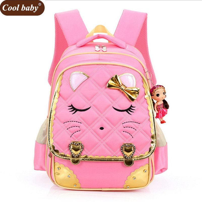 a0f96c57a47f US $22.94 41% OFF|Coolbaby Fashion School Backpacks Children School Bags  High Quality Nylon PU Backpack Child Book Bag 2019 Free Shipping D051-in ...