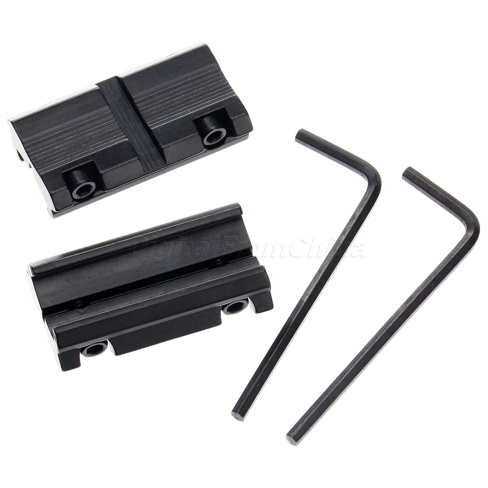 """1 Picatinny W 3//8/"""" 11mm Dovetail To 7//8/"""" 20mm  Rail Converter Mount"""