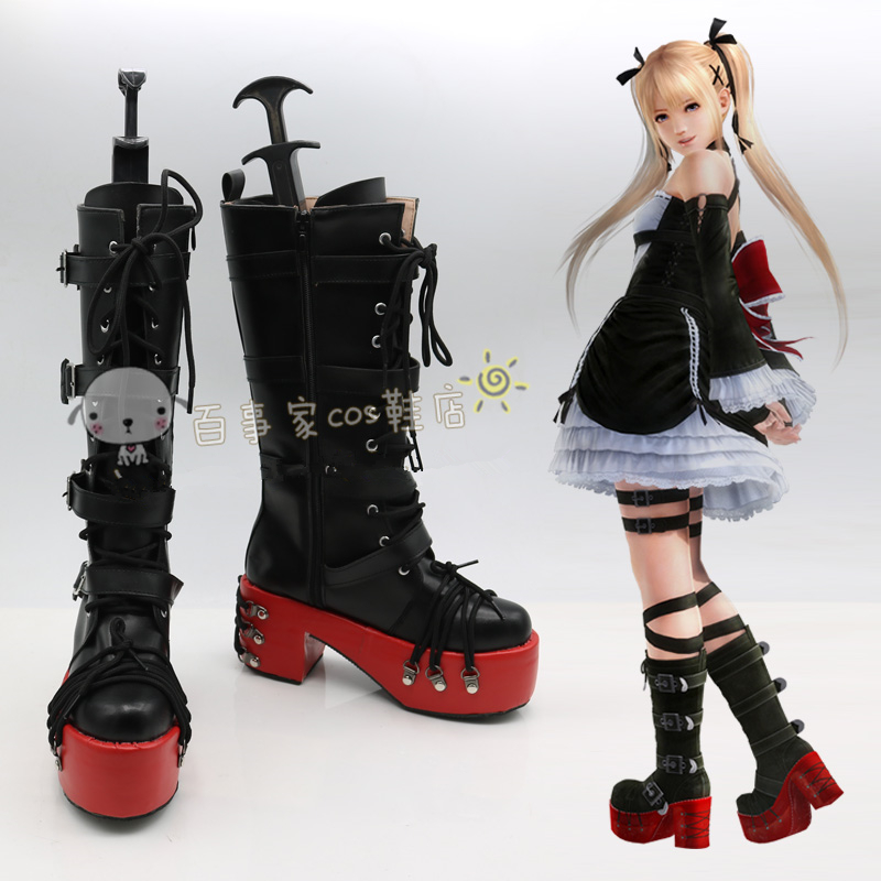 Game Dead or Alive 5 Marie Rose Cosplay Shoes Anime Party Boots Tailor Made