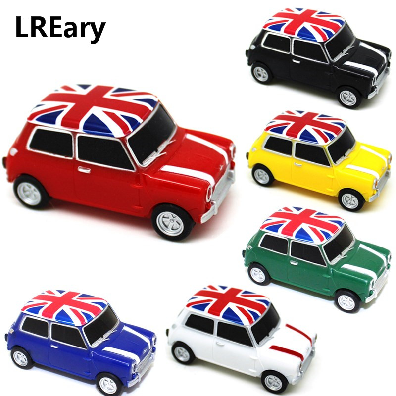 Creative U Disk 128MB Pendrive 4GB 8GB 16GB 32GB 64GB Mini Cooper Cute Mini Car Usb Flash Drive Memory Stick Pen Drive U Disk