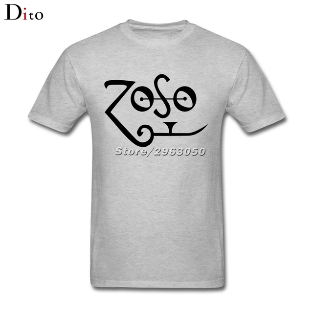 Led Zeppelin Zoso Jimmy Page Logo T Shirt Men Best Design Custom Short Sleeve Valentine's XXXL Team  T Shirts