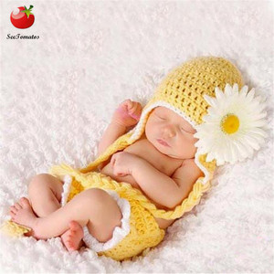 0-6M Newborn Baby Photo Props Infant Baby Crochet Frog Hats Knitted Tod Newborn Photography Props Infant Costume Outfi Infant