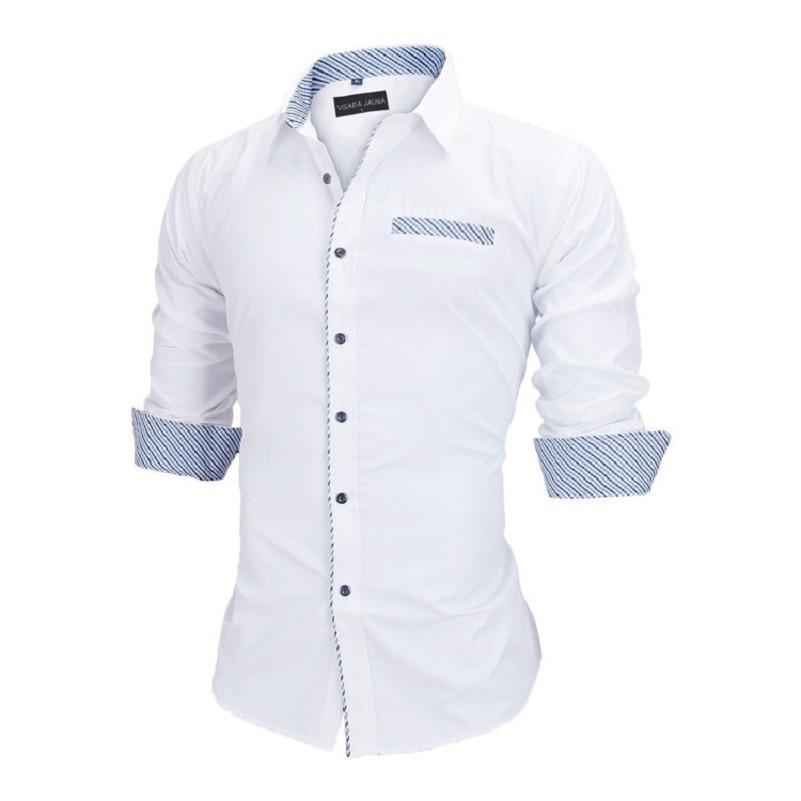 VISADA JAUNA Heren Overhemden Europa maten Nieuwkomers Slim Fit - Herenkleding - Foto 6