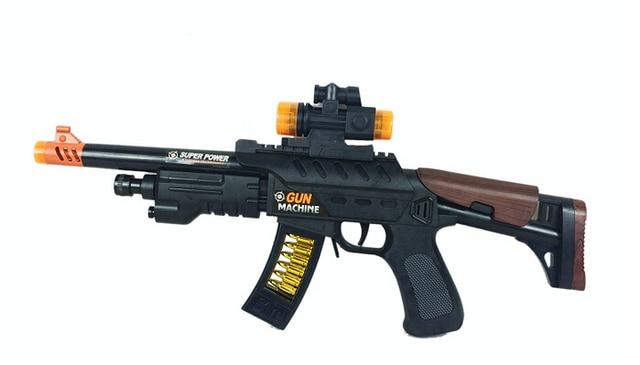 Classic toys Simulation children plastic electric music sound Toy Machine  Gun military toy guns nerf gun