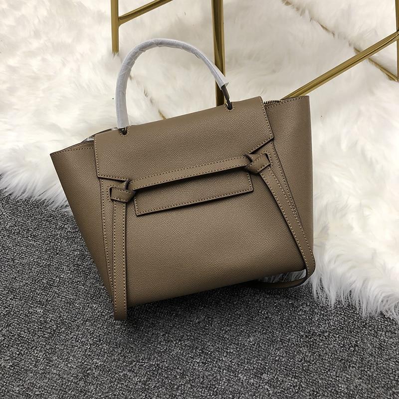 Customized High Quality Fashion Handbag Cow Leather Bags Trapeze Multicolor Shoulder Handbags  For Woman Bag