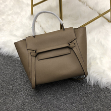 customized high quality fashion handbag cow leather bags trapeze multicolor shoulder handbags  for woman bag 2018 new products women bag split leather fashion smile bag shoulder bags messenger bags woman handbags trapeze bags