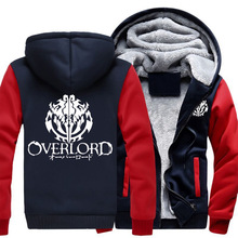 US Size Hoodies Men for Anime Overlord 3 Albedo Ainz Ooal Coat Zipper Hoodie Winter Fleece Unisex Thicken Jacket Sweatshirts(China)