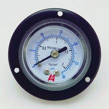 "Y40-ZT 1,"" 40 мм 30psi панель манометр, 2 кг/см2 панель манометр, PT1/8"" Задняя резьба с передним фланцем"