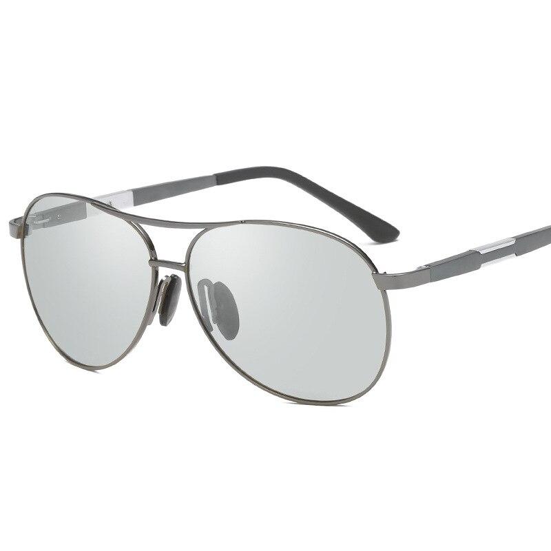 Vazrobe Aluminium Chameleon Sunglasses Men Women Polarized Photochromic Driving Night Sun Glasses Aviation Light Grey Lens 2018