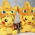 2 estilos Pokemon Pikachu Cosplay Charmander Felpa Juguetes Lindo Pokemon de la Felpa de Pokemon Muñeca de la Felpa Animales De Peluche Juguetes de Moda
