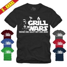 GRILL WARS T-SHIRT Star|Wars|Darth Vader|Jedi|Darkside|Fun|Grillen|Geschenk BBQ Free shipping  Harajuku Tops Fashion Classic