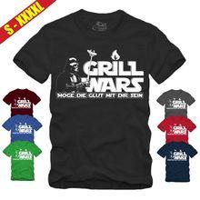 GRILL WARS T-SHIRT Star|Wars|Darth Vader|Jedi|Darkside|Fun|Grillen|Geschenk BBQ Free shipping  Harajuku Tops Fashion Classic