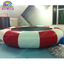 Pool Float Customized Color Stripes Water Trampoline Inflatable Trampolines ,Air Jumping Bed,water park equipment Trampolines