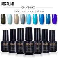 ROSALIND 7ML Popular Gel BLUE Color Series UV LED Varnish Gel Nail Polish Acrylic for Nail Gel Polish Nail Art 2017 Fashion