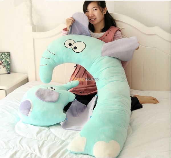 Fancytrader New 47'' / 120cm Lovely Big Plush Stuffed Giant Multifunctional Cartoon Elephant Pillow Bed, Free Shipping FT50890 - 3