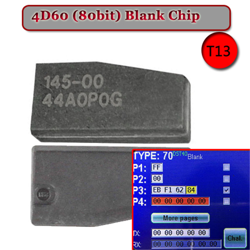 5PCS LOT ID 4D 60 T13 80 Bit BLANKCarbon Transponder Chip