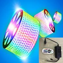 цена на LED LIGHT AC220V RGB 5050SMD IP67 Waterproof Flexible LED Tape 60LEDs/m Ribbon for Garden 1M/2M/3M/4M/5M/6M/7M/8M/10M/15M/20M