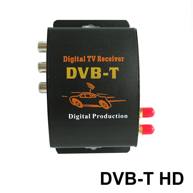 Car HD DVB T TV Box TV Receiver Dual Tuner High Speed Mpeg4 Car Digital TV Tuner For Car DVD Auto Mobile DVB T Receiver Kit