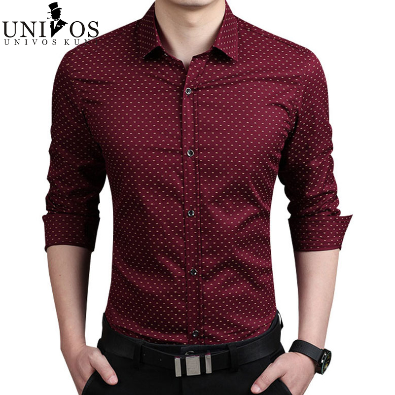 Plus size 5xl mens dress shirts 2016 spring autumn new for Long sleeve business shirts