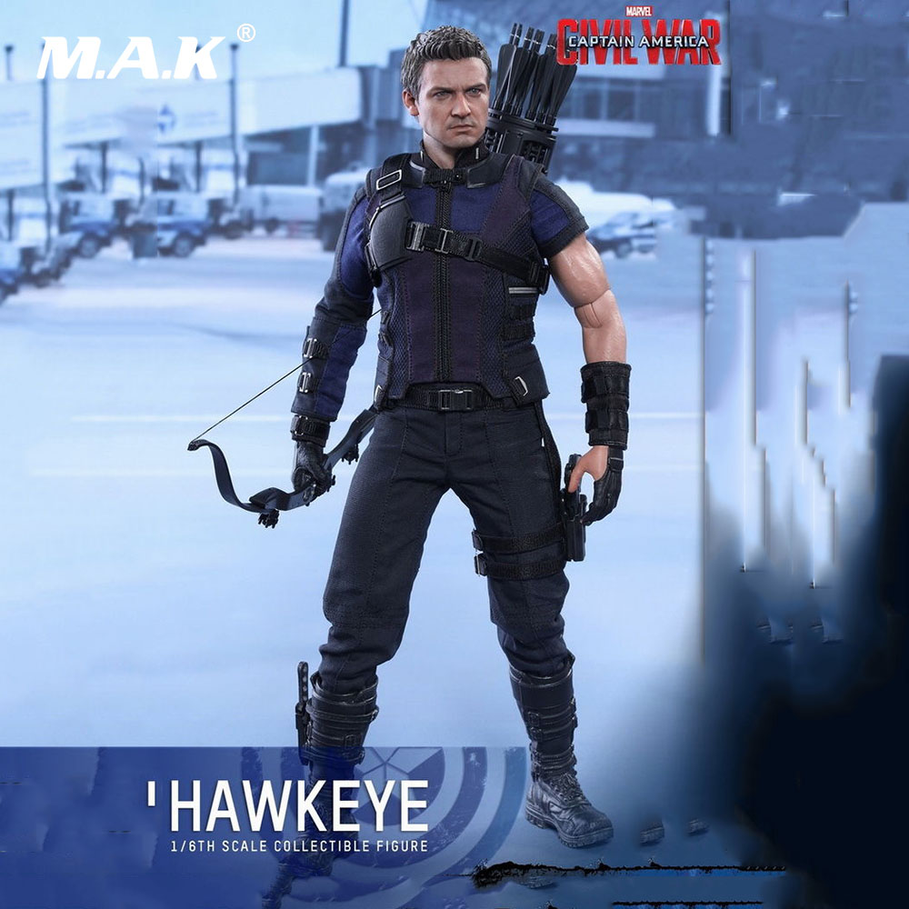 MMS358 1:6 Full Set Action Figure Captain America: Civil War Hawkeye Collectible Figure Doll for GiftMMS358 1:6 Full Set Action Figure Captain America: Civil War Hawkeye Collectible Figure Doll for Gift
