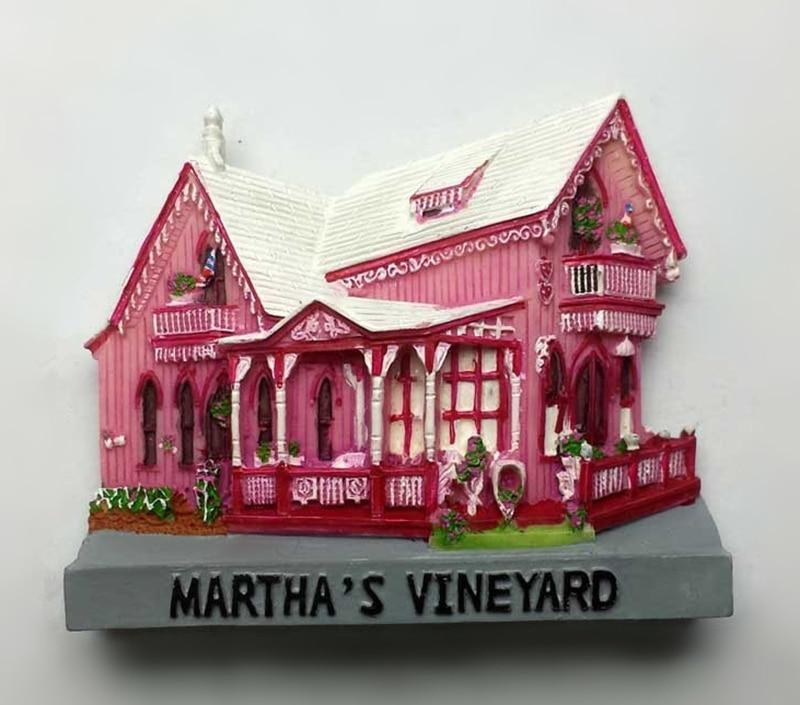 Best buy ) }}Massachusetts Island Of Martha Grapes 3D Refrigerator Magnet Home Decortion Fridge Magnets Tourism