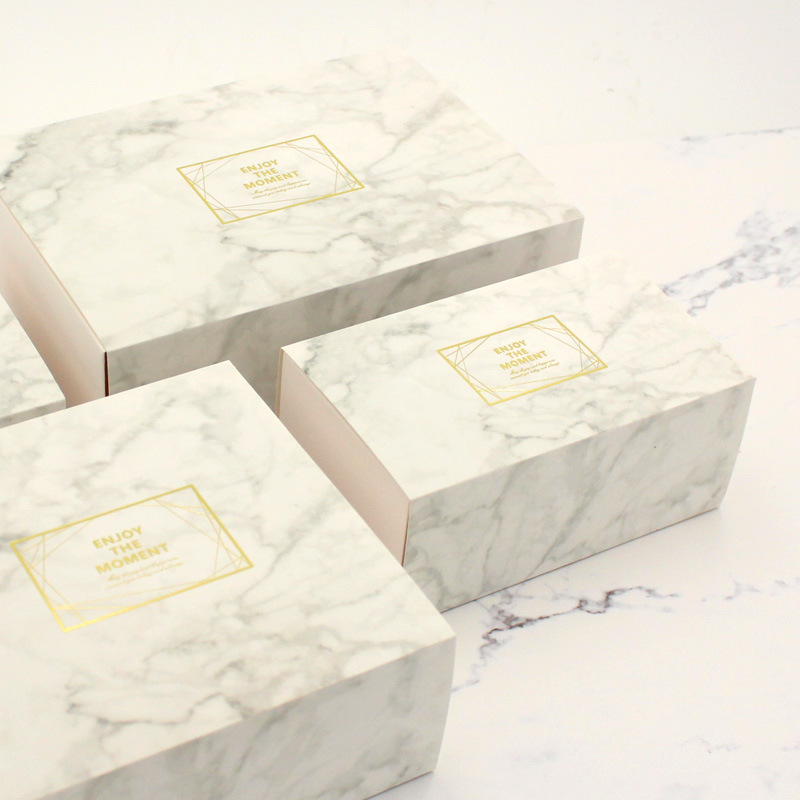 Small Box & Bag in Marble Color 2