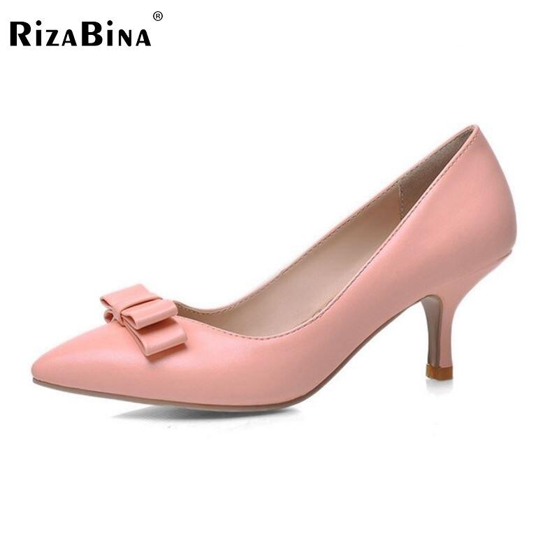 ФОТО women stiletto thin high heel shoes pointed toe sexy female princess fashion heeled bowtie pumps heels shoes size 33-42 P16576