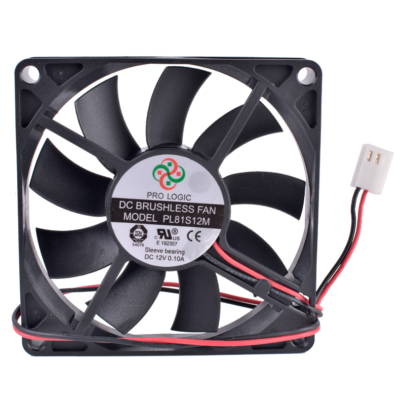 Купить с кэшбэком COOLING REVOLUTION PL81S12M 8cm 8015 80mm fan 12V 0.10A 2-wire 3Pin Computer CPU Chassis Power Ultra-quiet Cooling Fan