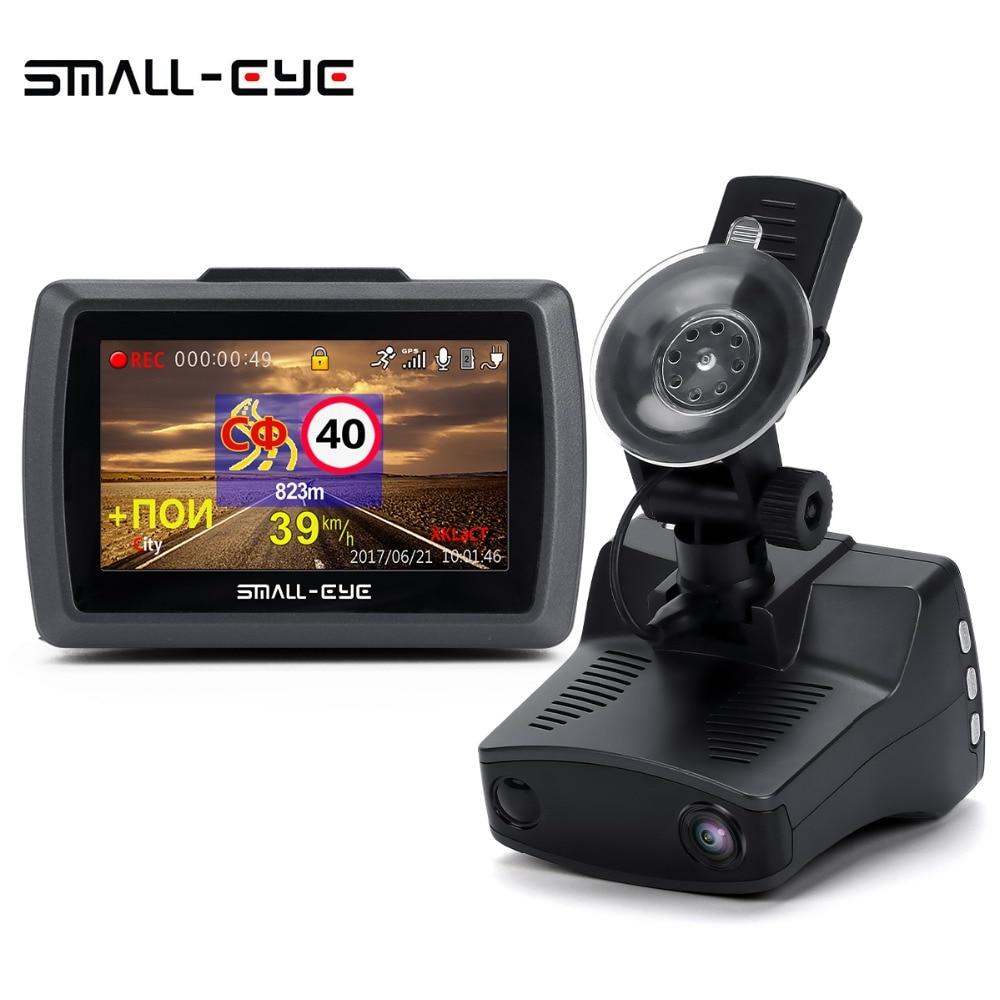 Малый-глаз 3 в 1 Видеорегистраторы для автомобилей Камера радар-детектор gps Ambarella A7 Full HD 2 К 1296 P 1080 P видео Регистраторы регистратор Dashcam русски...