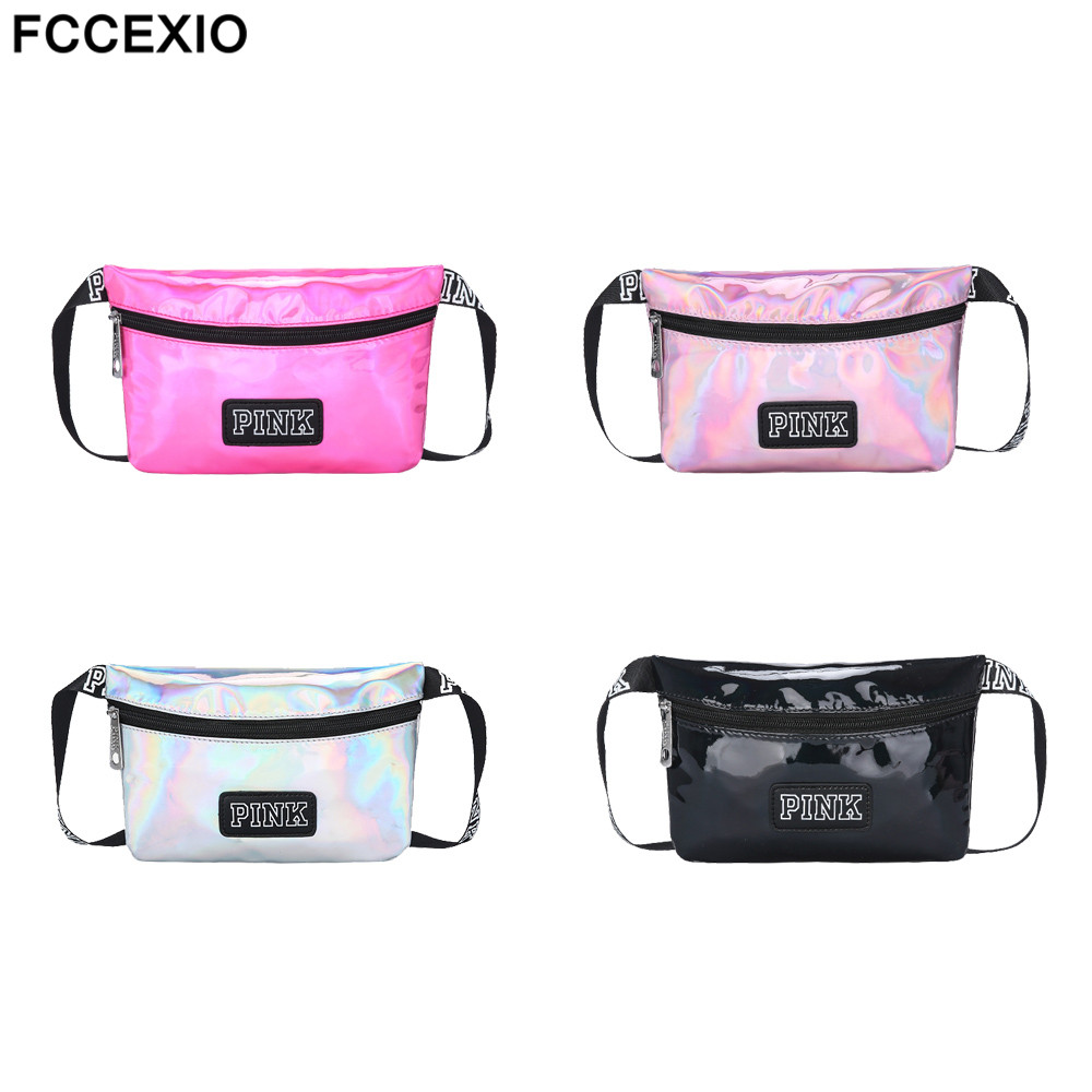 Wholesale PU Waterproof Pink Love Waist Pack Unisex Bag Belt Letter Packs For Money Travelling Mobile Phone