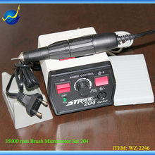 Original Korea 35K RPM Strong 204 + STRONG 102L Dental Lab Manicure Pedicure Jewelry Gems Micromotor 220V (FDA CE certificated)