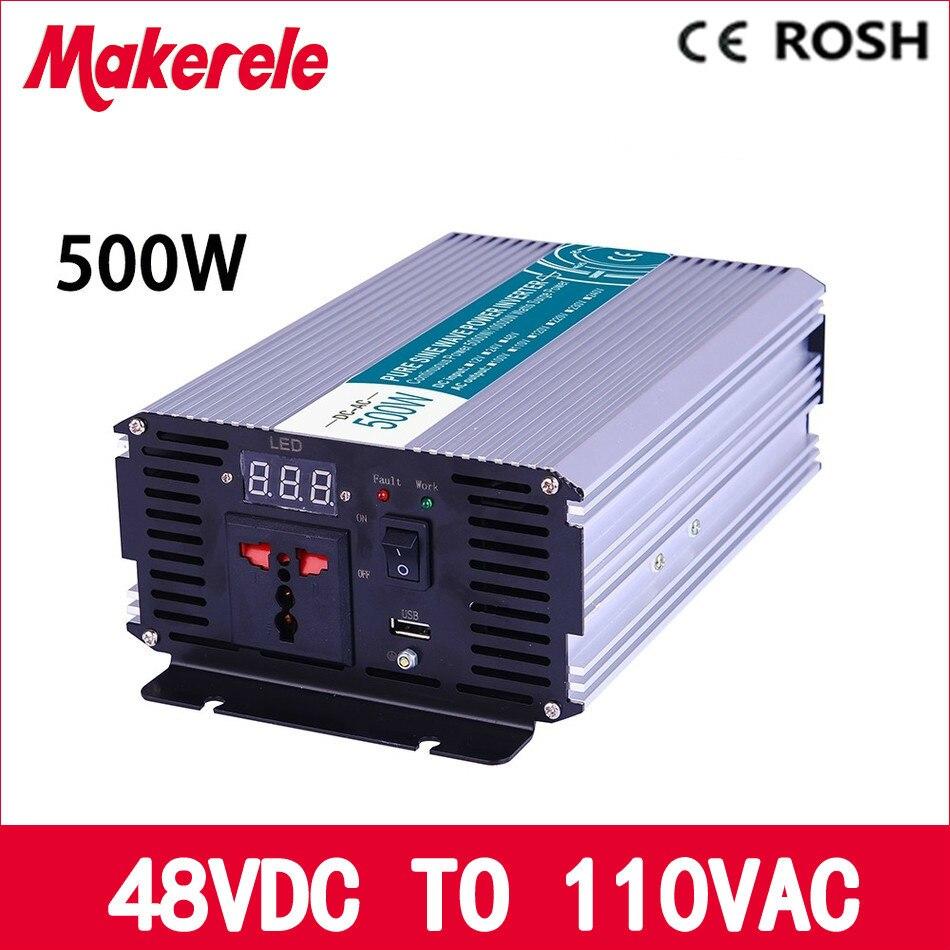ФОТО MKP500 481 off grid 500w inverter power 48v dc to 110v ac pure sine wave,voltage converter,solar