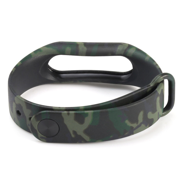 Watch Strap Watch Band Camouflage Pattern Strap WristBand Bracelet Replacement For Xiaomi MI Band 2 Miband 2 HY