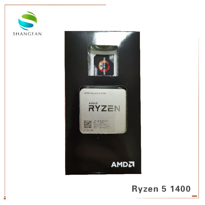 New Black Box AMD CPU Processor Ryzen 5 1400 R5 1400 3.2 GHz 65W Quad-Core CPU YD1400BBM4KAE Socket AM4