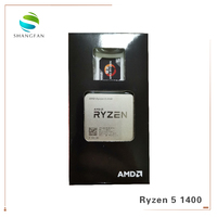 New black box AMD CPU processor Ryzen 5 1400 R5 1400 3.2 GHz 65W Quad Core CPU YD1400BBM4KAE Socket AM4